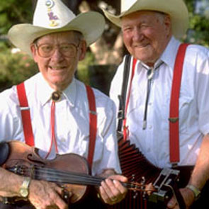 Luderin Darbonne and Edwin Duhom of Hackberry Ramblers