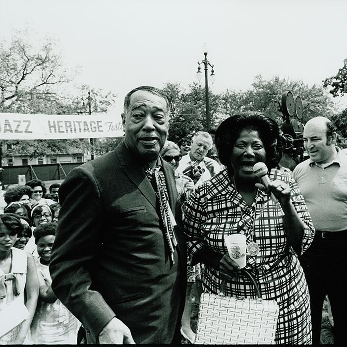 Celebrating Jazz Fest at 50: with Duke Ellington and Mahalia Jackson